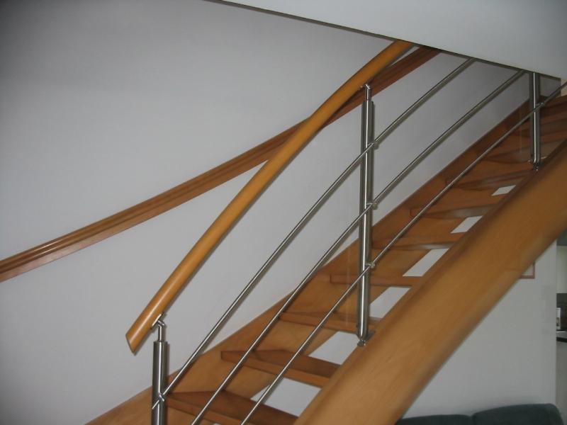 Escalier Bois Metal Menuiserie Houillon Damas Et